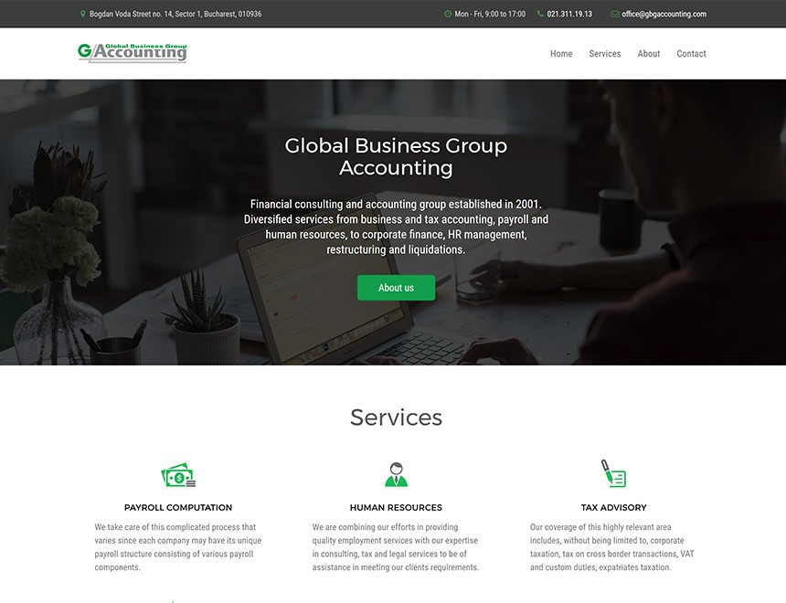 Global Business Group Accounting